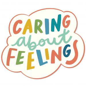 Caring About Feelings Acrylic Pin